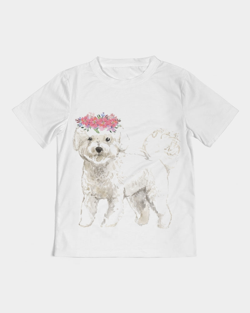 Bichon Frise with Flower Crown Tee
