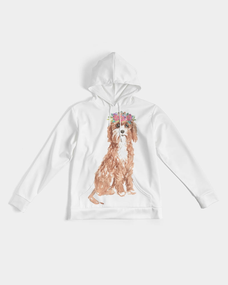 Cavapoo with Flower Crown Hoodie