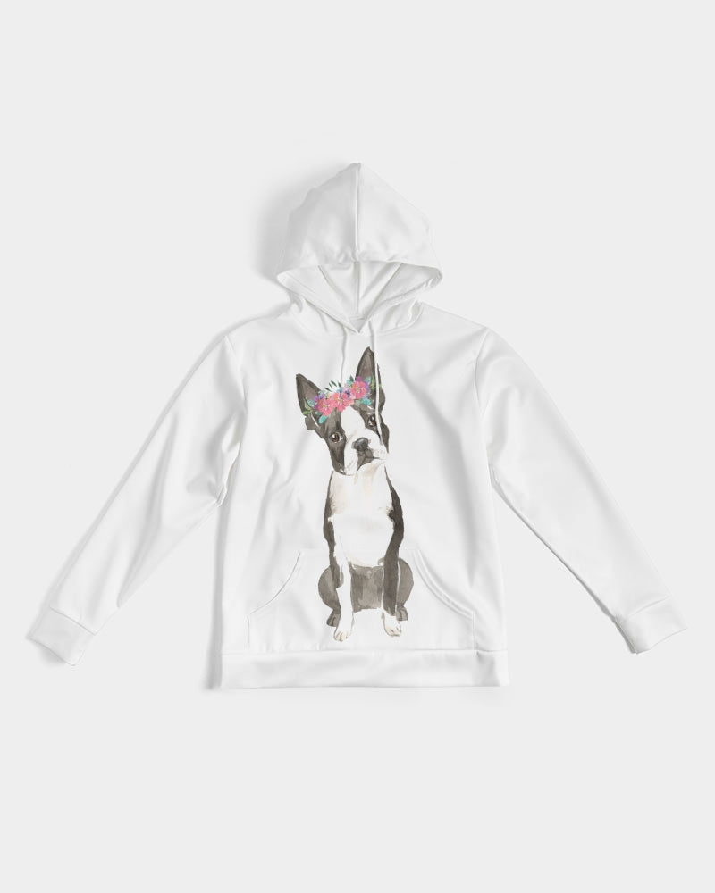 Boston Terrier with Flower Crown Hoodie