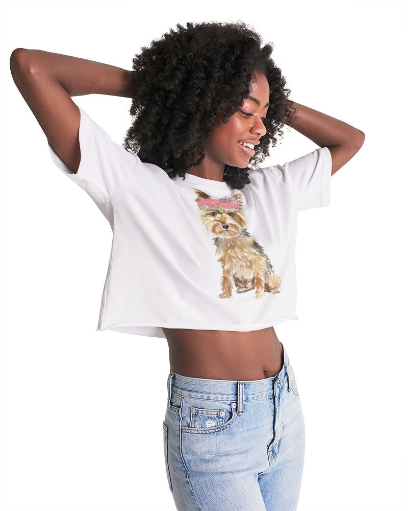 Yorkshire Terrier Women's Lounge Cropped Tee