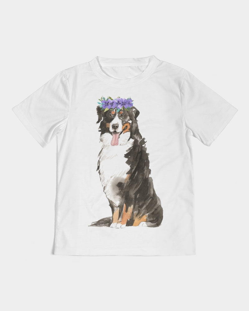 Bernese Mountain Dog with Flower Crown Tee
