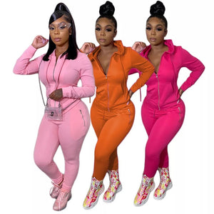 Wholesale Women's 2 piece Sports sweat suit
