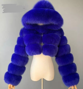 Wholesale Faux Fur Hooded Winter Jacket