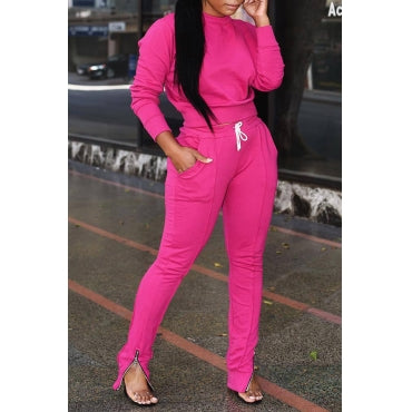 Wholesale Pink 2 piece Light Sweat set