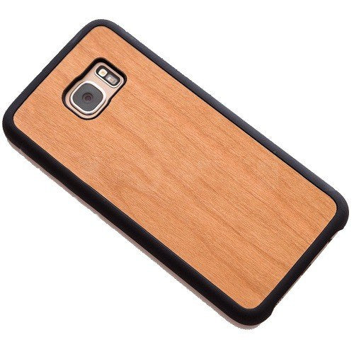 Cherry Plain Wood Case For Samsung S7
