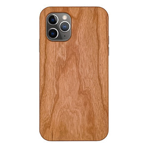 Cherry Plain Wood Case For iPhone 11 Pro 5.8″