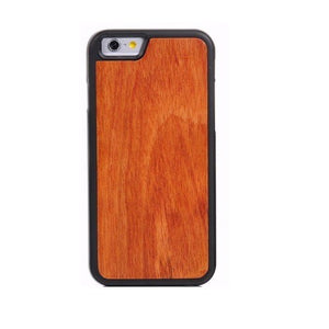Cherry Plain Wood Case For iPhone 5- 5S - SE