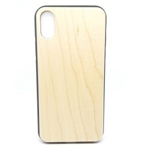 Maple Plain Wood Case For iPhone X-Xs