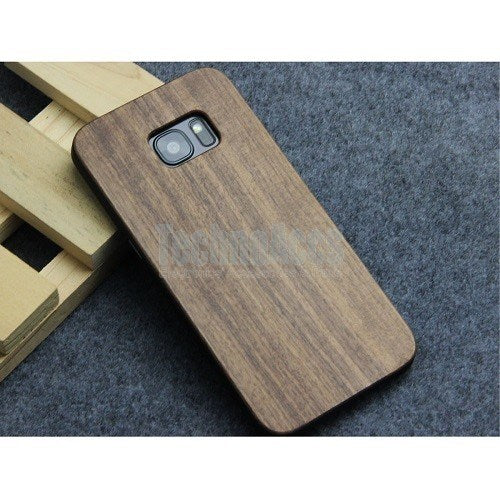 Walnut Classic Wood Case For Samsung S6 Edge