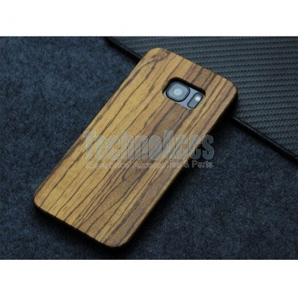 Zebra Classic Wood Case For Samsung S7