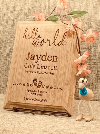 Personalized Laser Engraved Customize Plaque