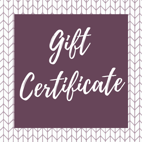 Gift Certificate - ECOBUNS BABY + CO.