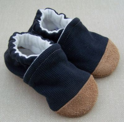 Snow and Arrows Cotton Slippers - Ribbed Navy