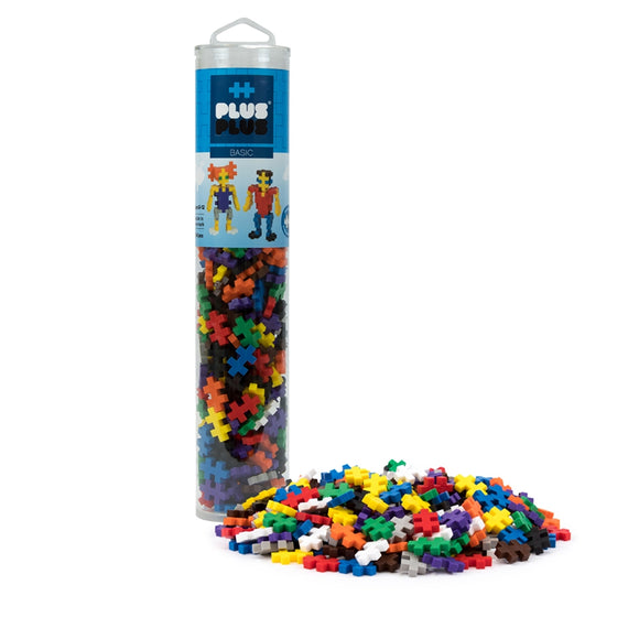 Plus Plus Open Play Tube 240pc Basic Mix