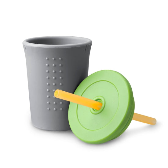 Gosili 12oz Straw Cup - Grey/Lime/Tart