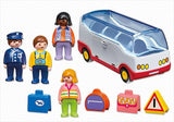 Playmobil 1.2.3 Airport Shuttle Bus