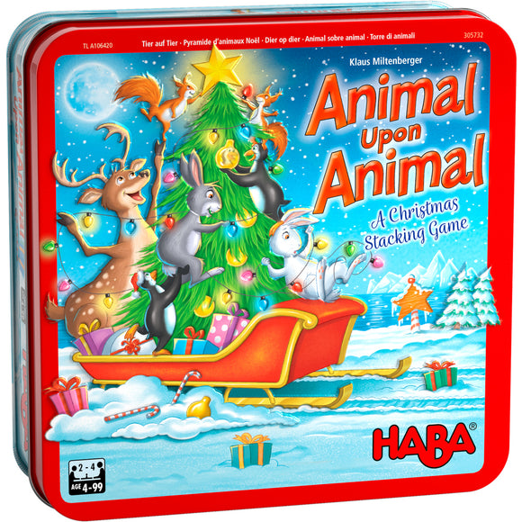 HABA Animal Upon Animal Christmas Edition