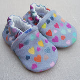 Snow and Arrows Cotton Slippers - Watercolor Hearts
