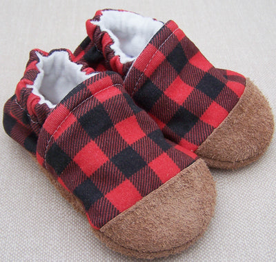 Snow and Arrows Cotton Slippers - Buffalo Plaid