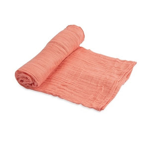 Little Unicorn Cotton Muslin Swaddle Single - Coral