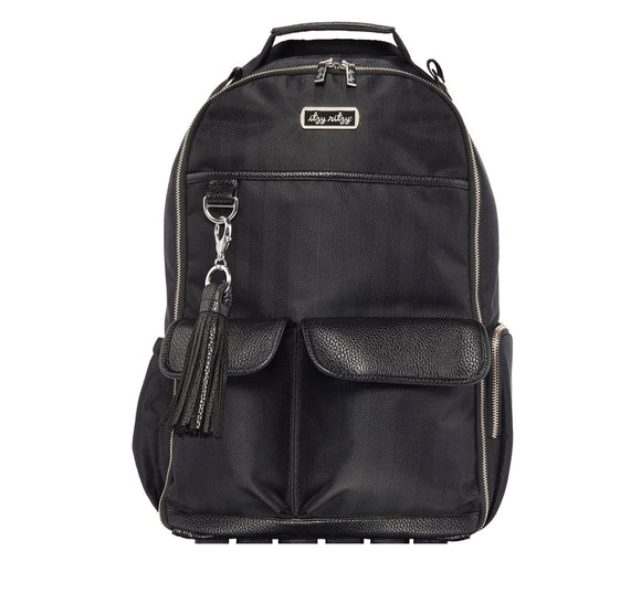 Itzy Ritzy - Black Herringbone Boss Backpack™ Diaper Bag
