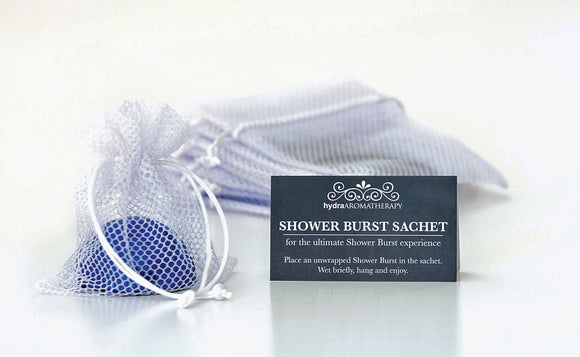 White Sachet Shower Burst