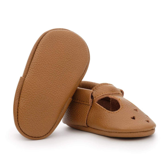 BirdRock Baby Mary Janes - Classic Brown - ECOBUNS BABY + CO.