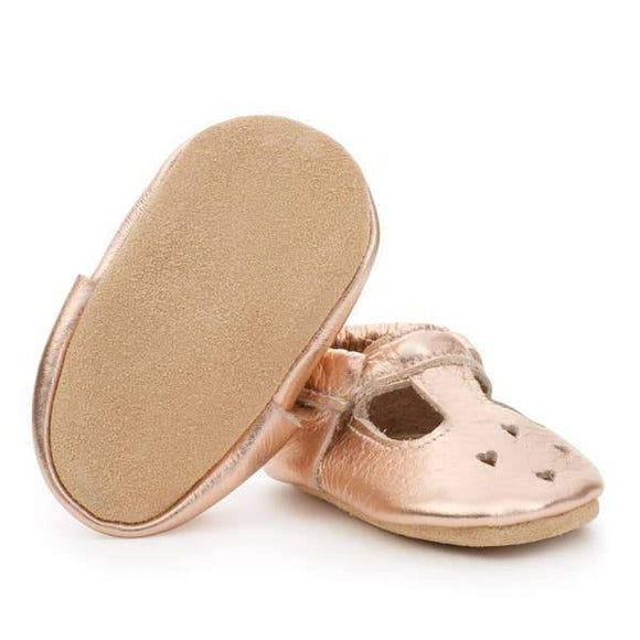 BirdRock Baby Mary Janes - Rose Gold - ECOBUNS BABY + CO.