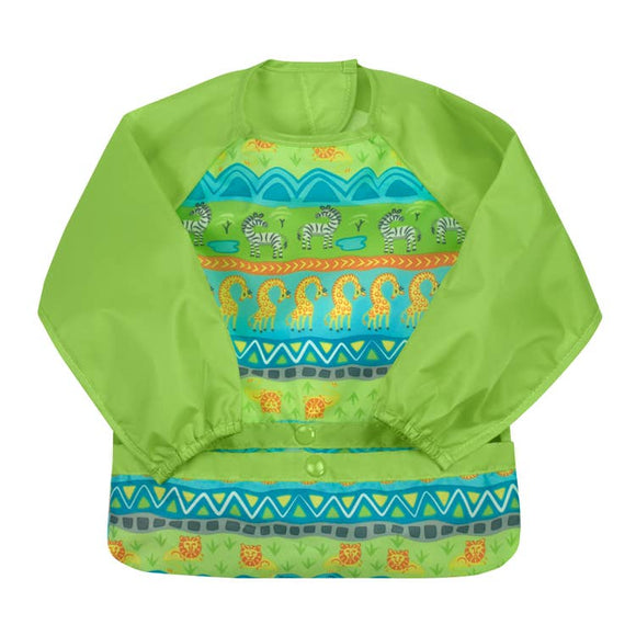 Long Sleeve Bib - Green Safari
