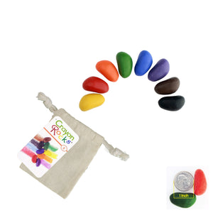 Crayon Rocks - 8 Colors in a Muslin Bag