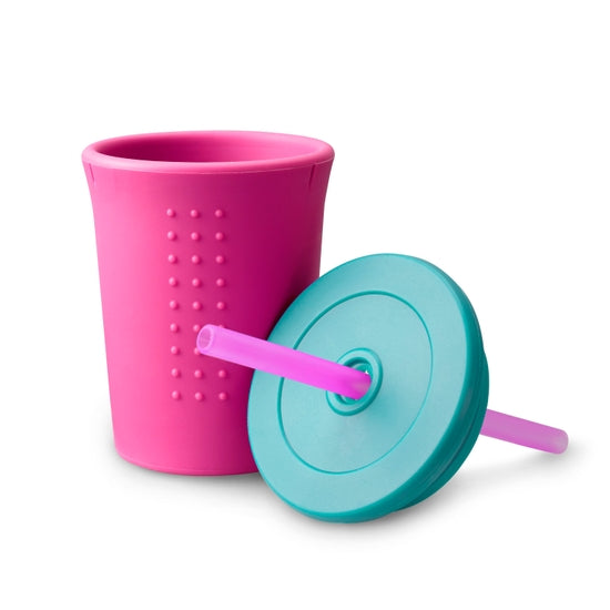 Gosili 12oz Straw Cup - Hot Pink/Sea/Berry