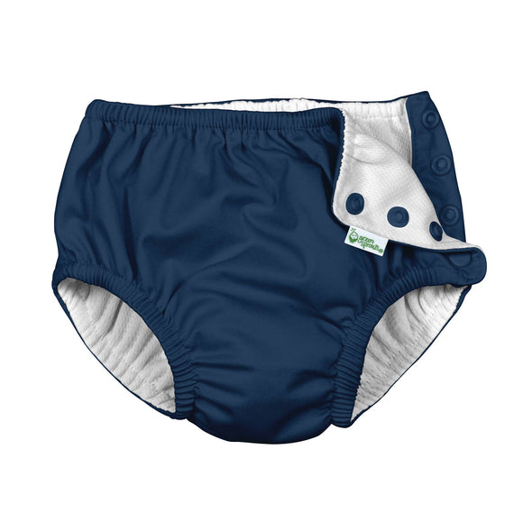 Green Sprouts - Snap Reusable Swimsuit Diaper - Navy