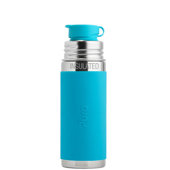 Pura Stainless Sport Mini 9oz Insulated Bottle - Aqua