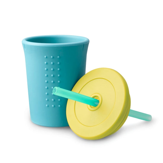 Gosili 12oz Straw Cup - Sky Blue/Banana/Sea