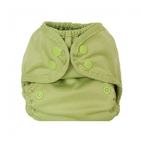 Buttons Diapers Newborn Diaper Cover - Aloe