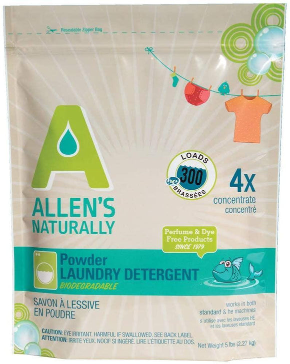 Allens Ultra-Concentrated Laundry Powder - 5lb bag - ECOBUNS BABY + CO.