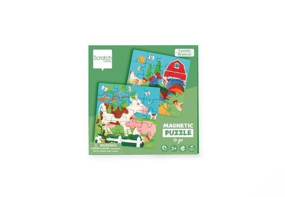 Scratch Europe - Magnetic Puzzle Book To Go Farm