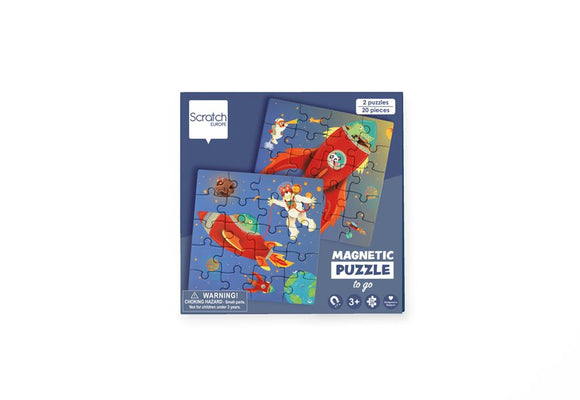 Scratch Europe - Magnetic Puzzle Book To Go - Space