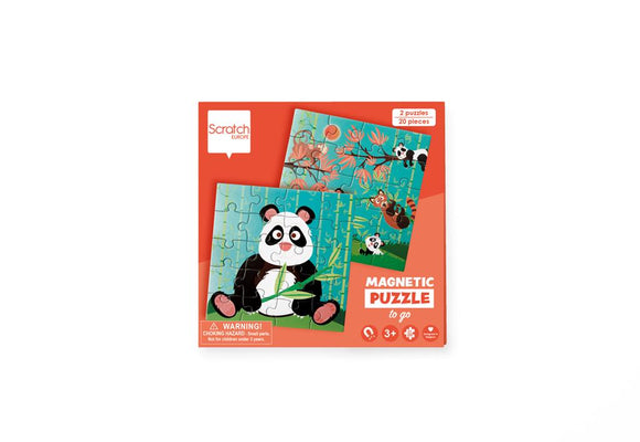 Scratch Europe - Magnetic Puzzle Book To Go - Panda