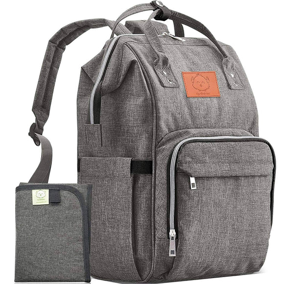 KeaBabies - Original Diaper Backpack (Classic Gray)