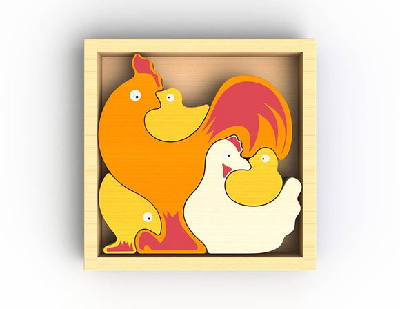 BeginAgain - Chicken Family Puzzle