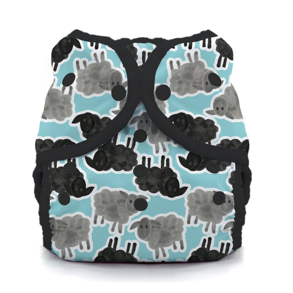 Thirsties Duo Wrap - Snaps - Counting Sheep - Size 1 (6-18lbs)