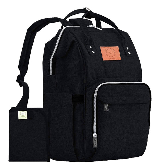 KeaBabies - Original Diaper Backpack (Trendy Black)