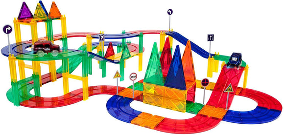 PicassoTiles 80 Piece Race Track Set