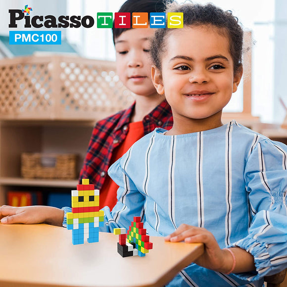 PicassoTiles Mini Magnetic Pixel Cube 100pc Set