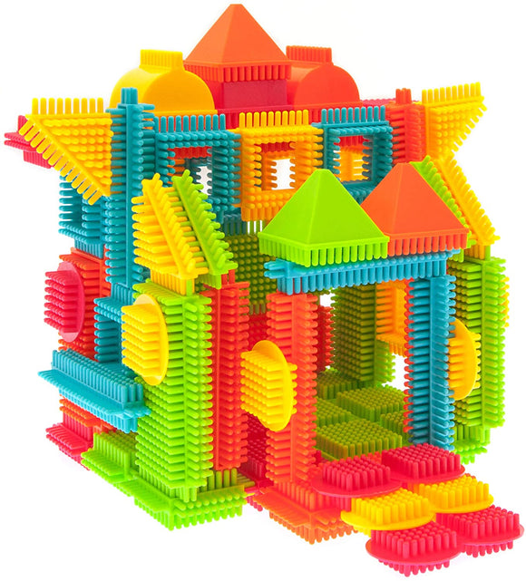 PicassoTiles Bristle Shape Blocks 120-Piece Basic Building Set