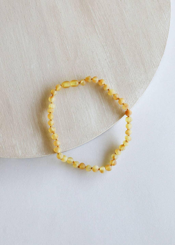 Kids: Raw Honey Amber Necklace