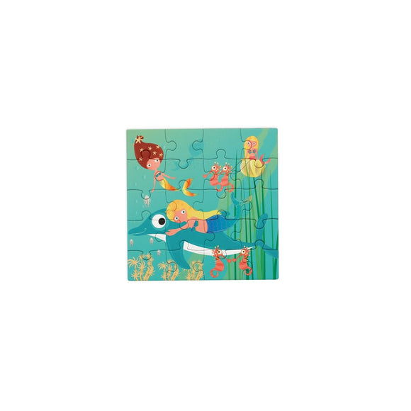 Scratch Europe - Magnetic Puzzle Book To Go Mermaids
