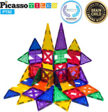 PicassoTiles 82 Piece Creativity Magnetic Tile Set