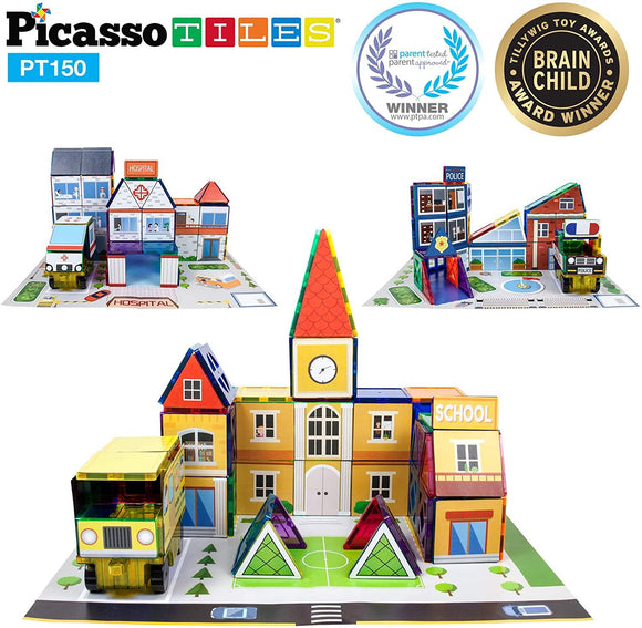 PicassoTiles 150pc 3-in-1 Theme Set